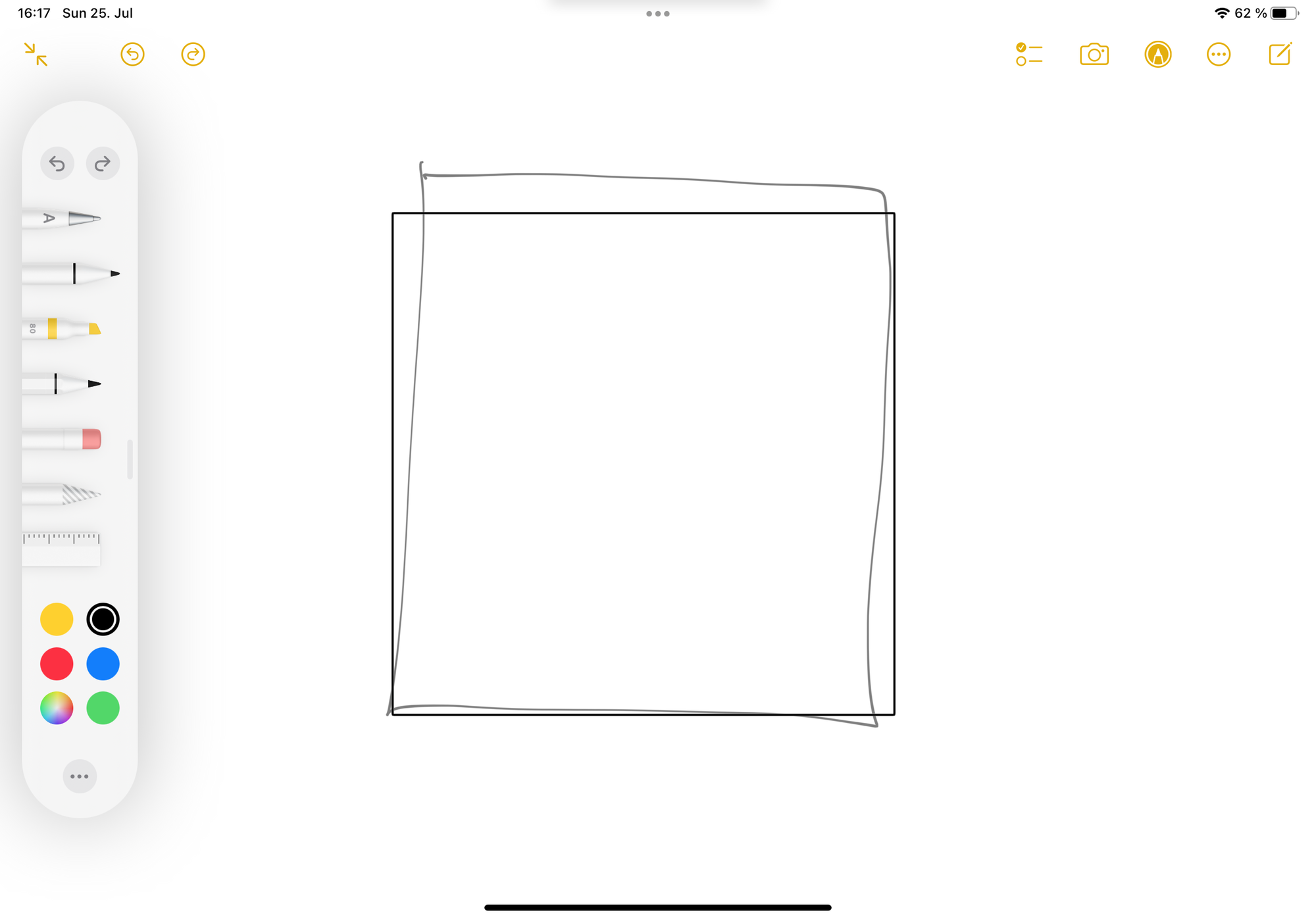 """""""Shape Recognition"""" in Notes app on iPad"""